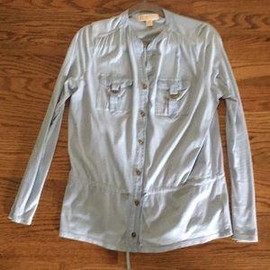 Michael Michael Kors light blue blouse w/tie